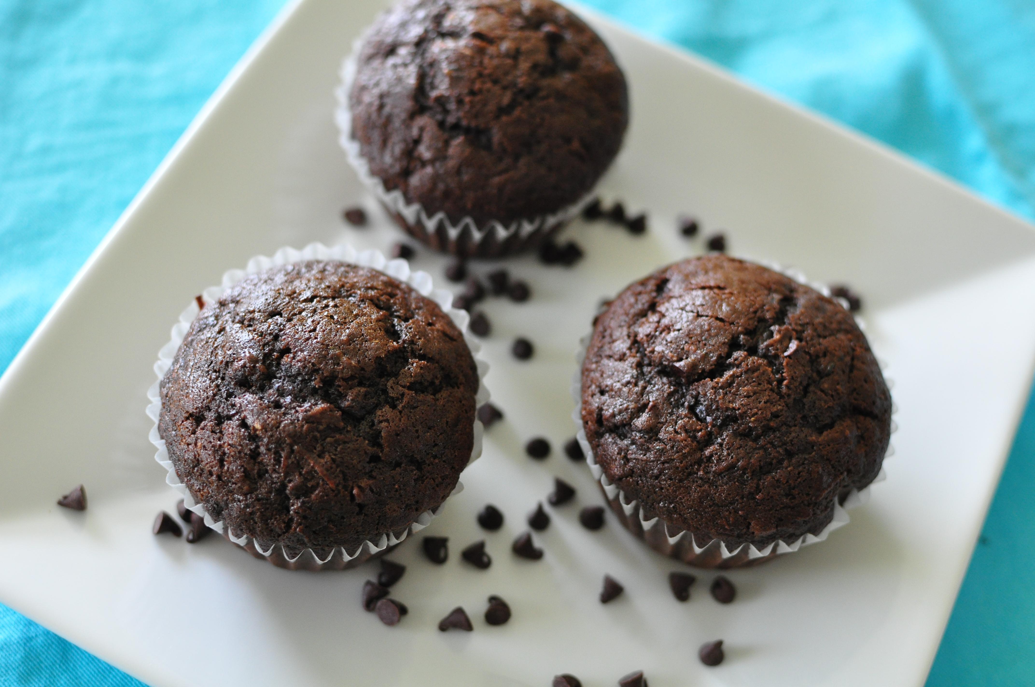Chocolate Zucchini Muffins - Meg's Everyday Indulgence